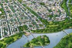 В городе-спутнике «Южный» высадили первую зеленую аллею